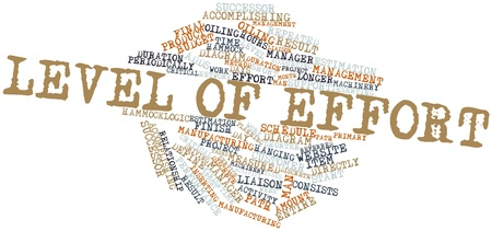 Abstract word cloud for Level of Effort with related tags and terms Stock Photo - 15995684