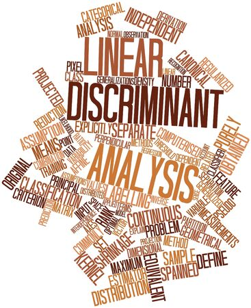 Abstract word cloud for Linear discriminant analysis with related tags and terms Stock Photo - 15996159
