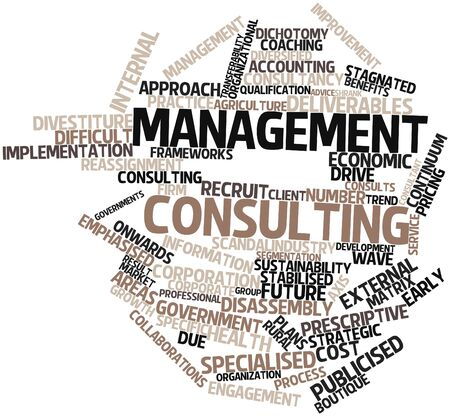Abstract word cloud for Management consulting with related tags and terms Stock Photo - 15995837