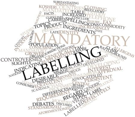 increasingly: Word cloud astratto per l'etichettatura obbligatoria con tag correlati e termini