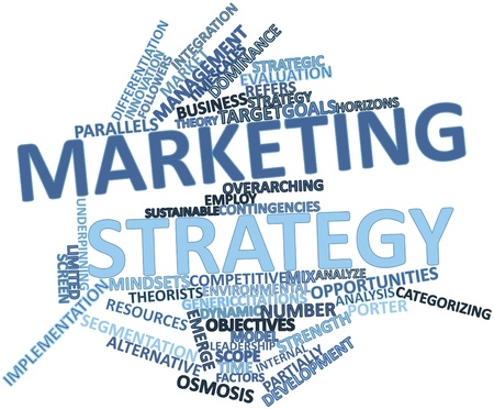osmosis: Abstract word cloud for Marketing strategy with related tags and terms