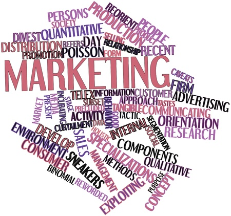 Abstract word cloud for Marketing with related tags and terms photo