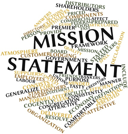 Abstract word cloud for Mission statement with related tags and terms Stock Photo - 15995916