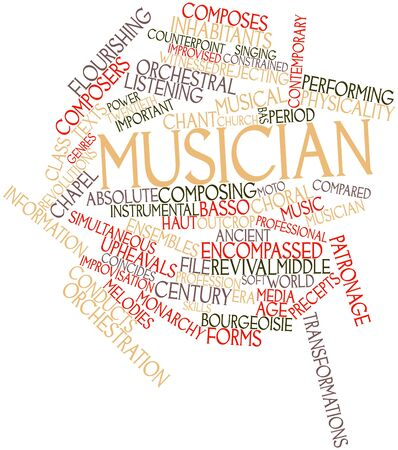 orchestration: Abstract word cloud for Musician with related tags and terms