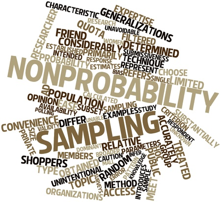 respondent: Abstract word cloud for Nonprobability sampling with related tags and terms
