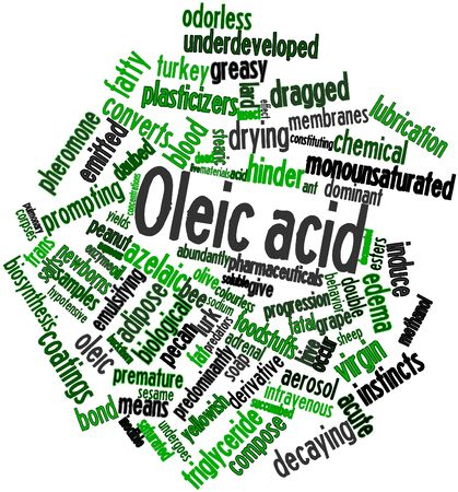 daubed: Abstract word cloud for Oleic acid with related tags and terms
