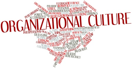 cognitive: Abstract word cloud for Organizational culture with related tags and terms