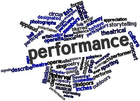 Abstract word cloud for Performance with related tags and terms Stock Photo - 15995766