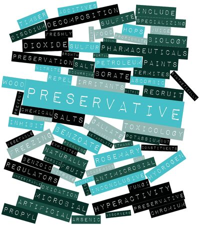 synthetically: Abstract word cloud for Preservative with related tags and terms