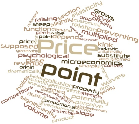 potentially: Abstract word cloud for Price point with related tags and terms Stock Photo