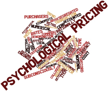 Abstract word cloud for Psychological pricing with related tags and terms Stock Photo - 15995857