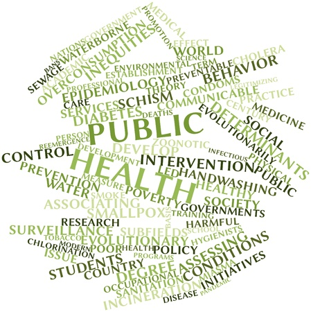 Abstract word cloud for Public health with related tags and terms Stock Photo