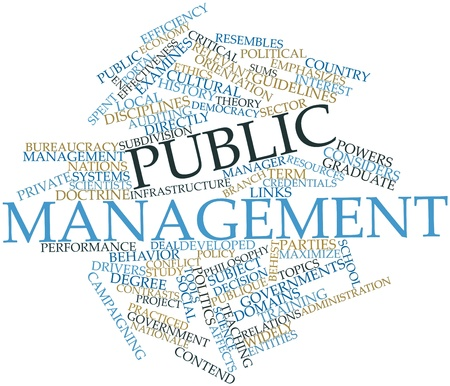 credentials: Abstract word cloud for Public management with related tags and terms
