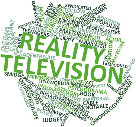 Abstract word cloud for Reality television with related tags and terms Stock Photo - 15996119