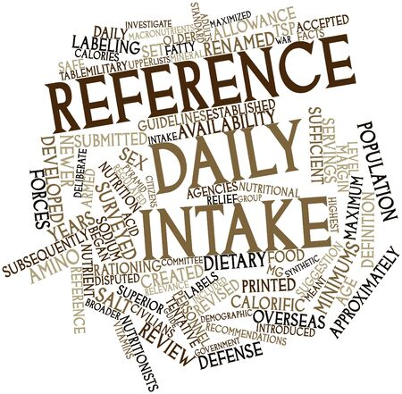 Abstract word cloud for Reference Daily Intake with related tags and terms Stock Photo - 15996135