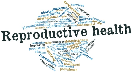 Abstract word cloud for Reproductive health with related tags and terms Stock Photo - 15995685