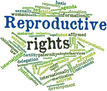 Abstract word cloud for Reproductive rights with related tags and terms