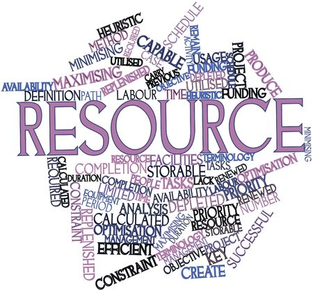 Abstract word cloud for Resource with related tags and terms Stock Photo - 15996140
