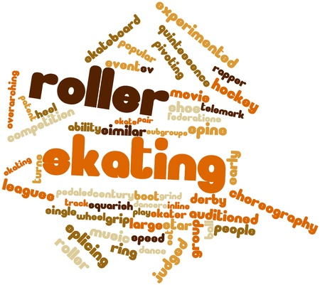 roller: Abstract word cloud for Roller skating with related tags and terms