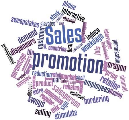 Abstract word cloud for Sales promotion with related tags and terms photo