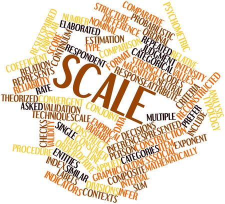 variable rate: Abstract word cloud for Scale with related tags and terms