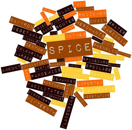 tonnes: Abstract word cloud for Spice with related tags and terms