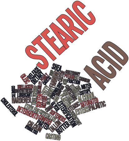 benign: Abstract word cloud for Stearic acid with related tags and terms Stock Photo