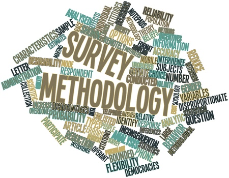 Abstract word cloud for Survey methodology with related tags and terms Stock Photo - 15996130
