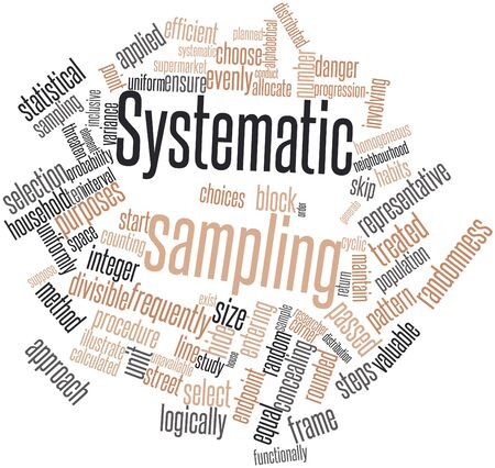 Abstract word cloud for Systematic sampling with related tags and terms Stock Photo - 15995974