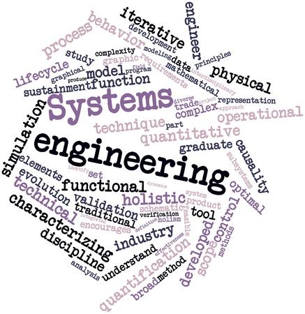 ciclo de vida: Nube palabra abstracta para ingeniería de sistemas con etiquetas y términos relacionados