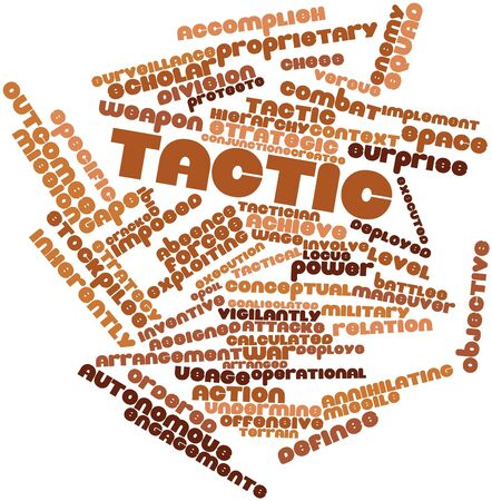 undermine: Abstract word cloud for Tactic with related tags and terms Stock Photo