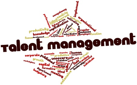 deepening: Abstract word cloud for Talent management with related tags and terms