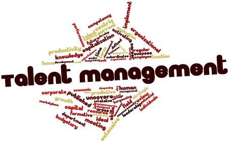 defined: Word cloud astratto per la gestione dei talenti con tag correlati e termini Archivio Fotografico