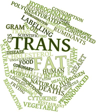 covalent: Abstract word cloud for Trans fat with related tags and terms Stock Photo