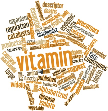 enteritis: Abstract word cloud for Vitamin with related tags and terms