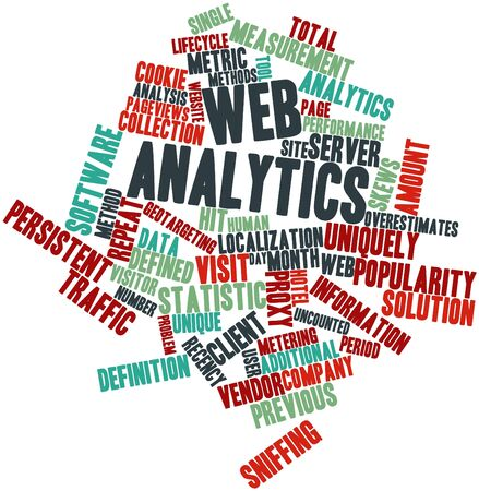 Abstract word cloud for Web analytics with related tags and terms photo