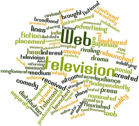 Abstract word cloud for Web television with related tags and terms photo