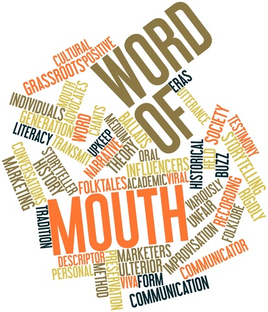 Abstract word cloud for Word of mouth with related tags and terms Stock Photo - 15995897