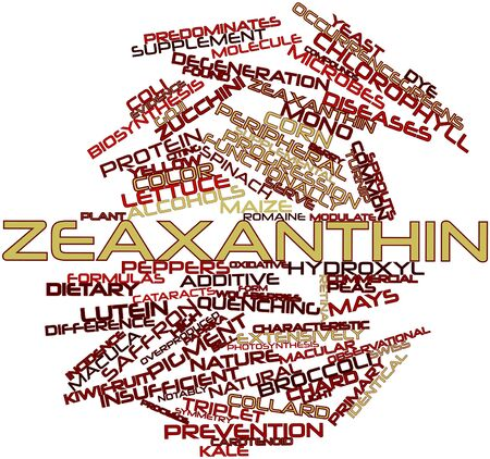 insufficient: Abstract word cloud for Zeaxanthin with related tags and terms