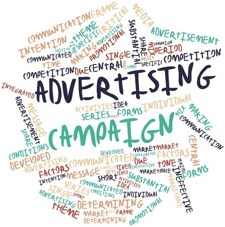 ineffective: Abstract word cloud for Advertising campaign with related tags and terms