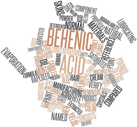 canola: Abstract word cloud for Behenic acid with related tags and terms