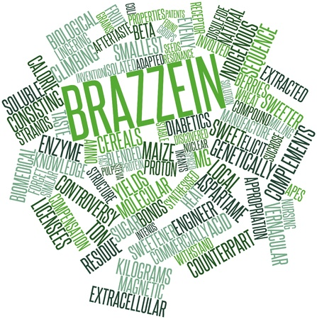 Abstract word cloud for Brazzein with related tags and terms Stock Photo - 15998486
