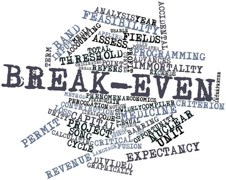 exceeds: Abstract word cloud for Break-even with related tags and terms