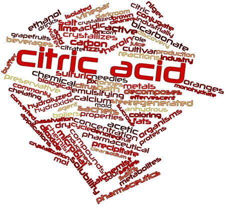 sucrose: Abstract word cloud for Citric acid with related tags and terms