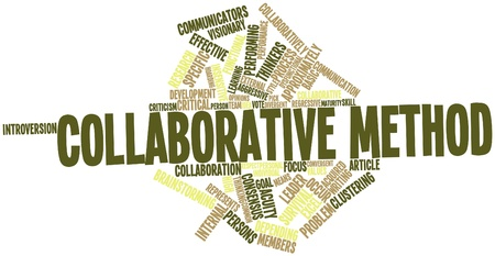 critical: Abstract word cloud for Collaborative method with related tags and terms
