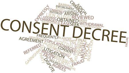 desprecio: Nube palabra abstracta por decreto de consentimiento con las etiquetas y términos relacionados