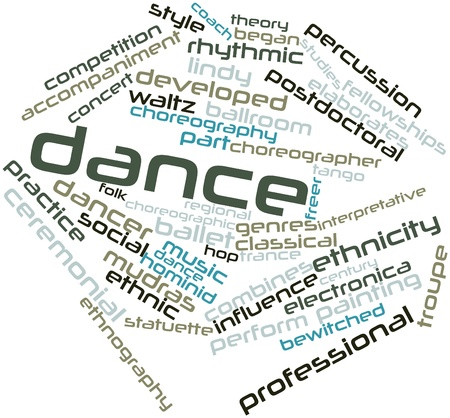 Abstract word cloud for Dance with related tags and terms Stock Photo - 15996448