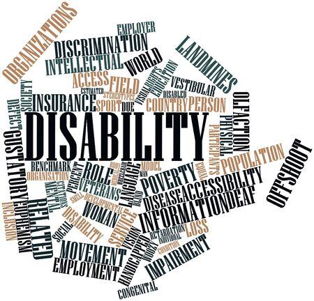 derechos humanos: Nube de palabras Resumen de la Discapacidad con las etiquetas y t�rminos relacionados
