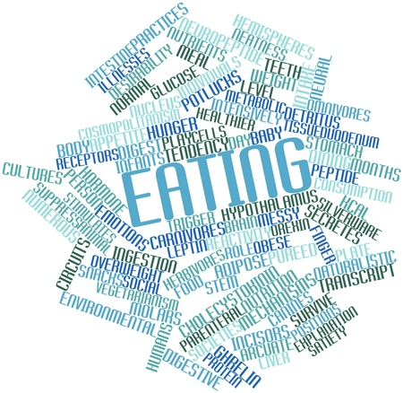 Abstract word cloud for Eating with related tags and terms Stock Photo - 15998454