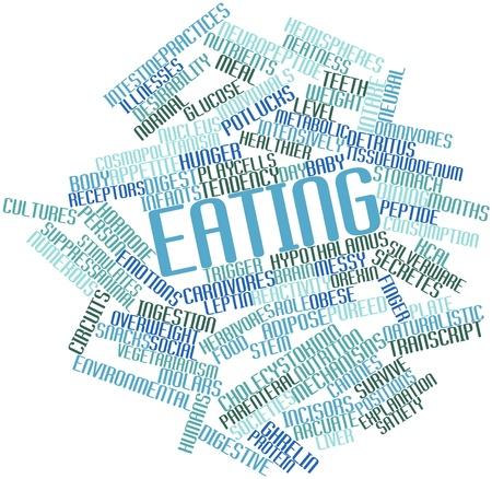 molares: Nube palabra abstracta para comer con las etiquetas y términos relacionados Foto de archivo